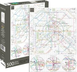 Paris Metro Graphics / Illustration Jigsaw Puzzle