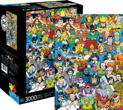 DC Comics Line Up Collage Jigsaw Puzzle