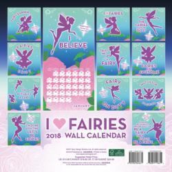 I Love Fairies 2018 Wall Calendar