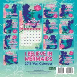I Believe in Mermaids 2018 Wall Calendar