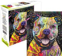 Beware Pit Bull Dogs Jigsaw Puzzle