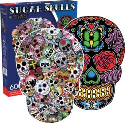 Sugar Skulls Day of the Dead Double Sided Puzzle