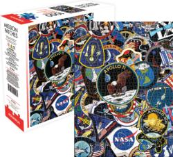 NASA Mission Patches Collage Impossible Puzzle