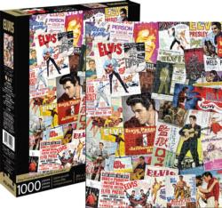 Elvis Movie Poster Collage Famous People Jigsaw Puzzle