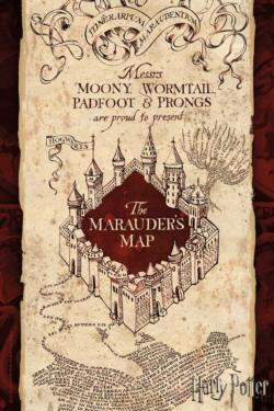 Marauder's Map Puzzle in a Tube Harry Potter Miniature Puzzle