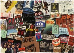 AC/DC Albums Collage Jigsaw Puzzle