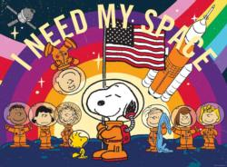 Peanuts Snoopy in Space Cartoons Jigsaw Puzzle