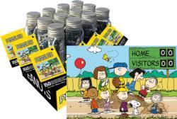 Peanuts Baseball 150pc Puzzle In A Tube Cartoons Miniature Puzzle