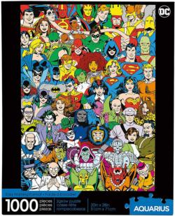 DC Comics- Retro Cast Super-heroes Jigsaw Puzzle