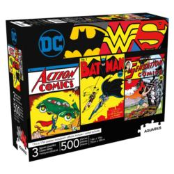 DC Comics 500pc x 3 Super-heroes Multi-Pack