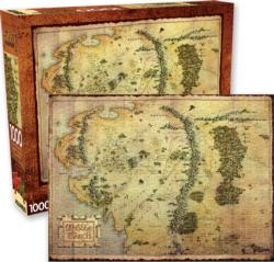 The Hobbit Map Movies / Books / TV Jigsaw Puzzle
