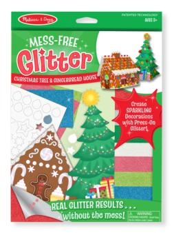 Mess Free Glitter - Christmas Tree & Gingerbread House Christmas Arts and Crafts