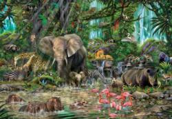 African Jungle Collage Impossible Puzzle