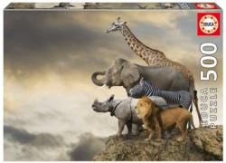 Animals On The Edge Of A Cliff Landscape Jigsaw Puzzle