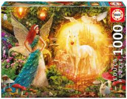 Peacock Feather Fairy Unicorns Jigsaw Puzzle