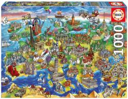 European World Landmarks / Monuments Jigsaw Puzzle