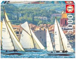 Sailing At Saint Tropez France Jigsaw Puzzle