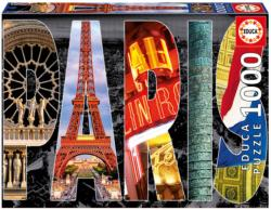 Paris Collage Paris Jigsaw Puzzle