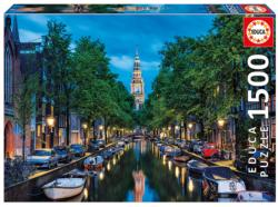 Amsterdam Canal At Dusk Europe Jigsaw Puzzle