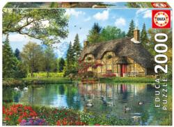 Lake View Cottage Cottage/Cabin Jigsaw Puzzle