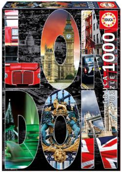 London Collage London Jigsaw Puzzle