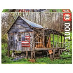 Made In The USA Cottage / Cabin Jigsaw Puzzle