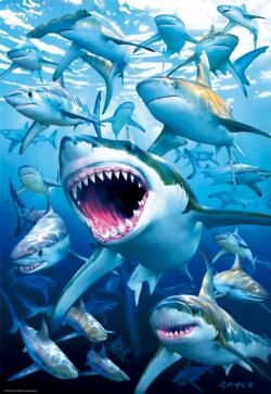 Shark Club Under The Sea Jigsaw Puzzle