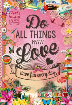 Do All Things With Love Collage Jigsaw Puzzle