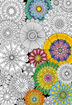 Big Beautiful Blossoms Flowers Coloring Puzzle