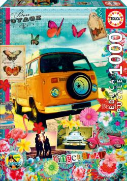 Bon Voyage Collage Jigsaw Puzzle
