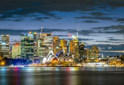 Sydney City Twilight Skyline / Cityscape Jigsaw Puzzle