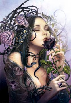 The Midnight Rose Fantasy Jigsaw Puzzle