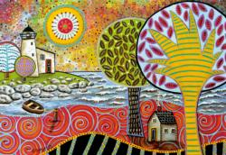 Lighthouse 1 Contemporary & Modern Art Jigsaw Puzzle