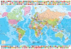 Political World Map Maps / Geography Jigsaw Puzzle