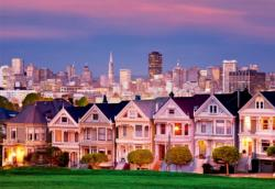 Painted Ladies, San Francisco Skyline / Cityscape Jigsaw Puzzle