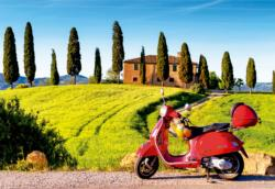 Scooter In Toscana Vehicles Jigsaw Puzzle