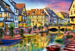 Colmar Canal, France Lakes / Rivers / Streams Jigsaw Puzzle