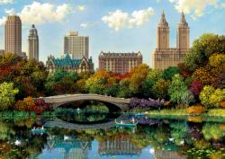 Central Park Bow Bridge New York High Difficulty Puzzle