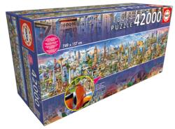 Around the World (42,000 Pieces) Skyline / Cityscape High Difficulty Puzzle
