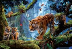 Tigers in the Tree Tigers Jigsaw Puzzle
