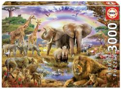 Watering Hole Rainbow Jungle Animals 2000 and above