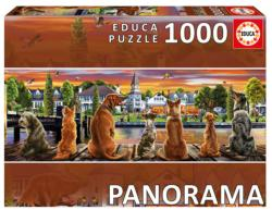 Dogs on Quay Dogs Panoramic Puzzle