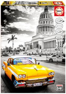 Taxi in La Havana Cars Jigsaw Puzzle