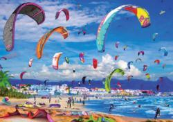 Kitesurfing Beach Jigsaw Puzzle