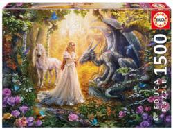 Dragon Princess and Unicorn Unicorns Jigsaw Puzzle
