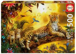 Leopard and His Cubs Jungle Animals Jigsaw Puzzle