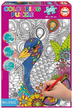 Jungle Safari (300 Coloring) Adult Coloring Coloring Puzzle