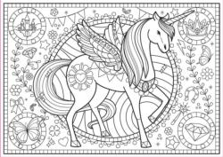 Unicorn Unicorns Coloring Puzzle