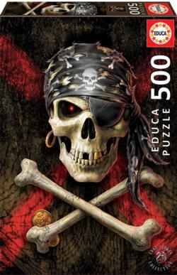 Pirate Skull Gothic Jigsaw Puzzle