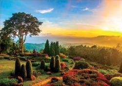 Beautiful Garden Sunrise / Sunset Jigsaw Puzzle